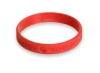 Silicone Bracelet De/Embossed-Click to View Product Details