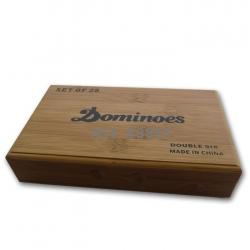 dominoes-bamboo box-Click to View Full Size